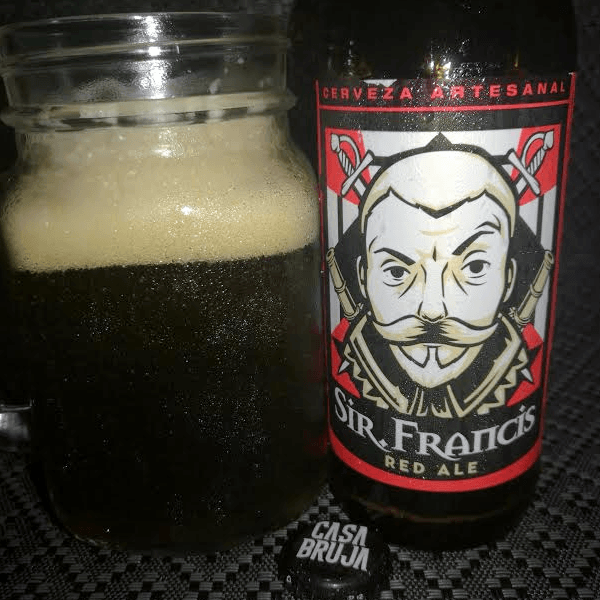 Cerveza Sir Francis Red Ale Casa Bruja Brewing