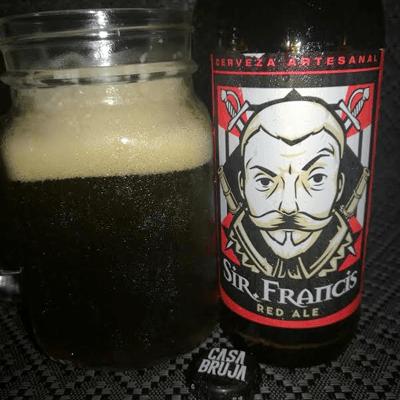 Cerveza Sir Francis Red Ale Casa Bruja Brewing